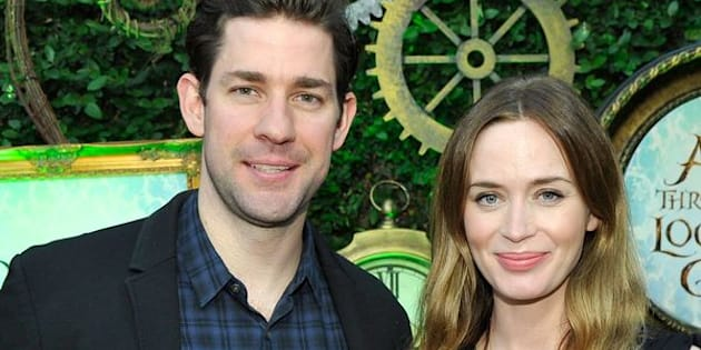 LOS ANGELES, CA - MAY 12:  John Krasinski (L) and Emily Blunt attend Disney's Alice Through the Looking Glass event on May 12, 2016 at Roseark in Los Angeles California.  Top designers showcased whimsical fashions, accessories and beauty collections inspired by the upcoming film.  (Photo by John Sciulli/Getty Images for Disney Consumer Products & Interactive Media)