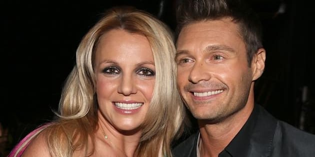 Britney Spears and Ryan Seacrest backstage at the 2012 iHeartRadio Music Festival at MGM Grand Garden Arena on Sept. 21, 2012 in Las Vegas, Nevada.