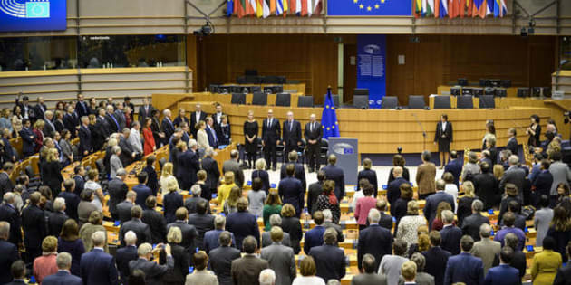 Commemorative ceremony at the European Parliament in honour of the victims of the terrorist attacks in Paris