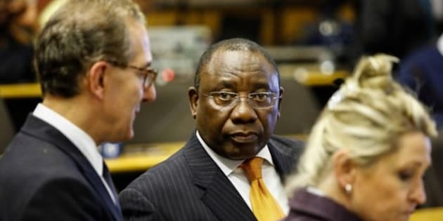 Deputy president Cyril Ramaphosa at the hearings of the Marikana Commission of Inquiry.