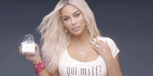 A corset, not Photoshop, may have affected the way Kim Kardashian's waist appears in this video.