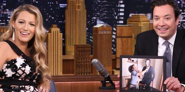 THE TONIGHT SHOW STARRING JIMMY FALLON -- Episode 0501 -- Pictured: (l-r) Actress Blake Lively during an interview with host Jimmy Fallon on July 15, 2016 -- (Photo by: Andrew Lipovsky/NBC/NBCU Photo Bank via Getty Images)