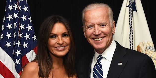 "Vice President Joe Biden, seen with actress and Joyful Heart Foundation founder Mariska Hargitay, will appear in an upcoming episode of ""Law & Order: Special Victims Unit."""
