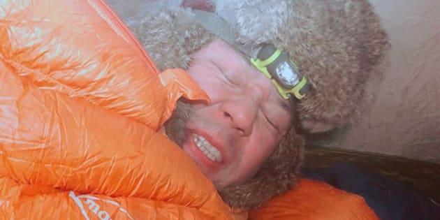 「-34℃の中でテント泊⛺️ 寒そうだって❓ 寒そうじゃないんだよ❗️寒いんだよ‼️」