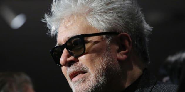 Le réalisateur Pedro Almodovar à la rétrospective de ses films au musée d'art moderne à New-York le 29 novembre 2016