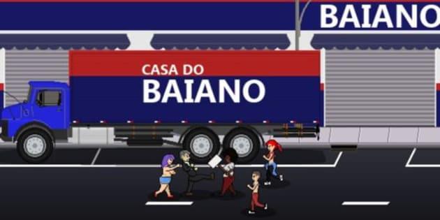 """Uma das cenas do jogo criado pela BS Studio, e disponibilizado na plataforma Steam, tem como objetivo """"livrar o Brasil da miséria."""""""