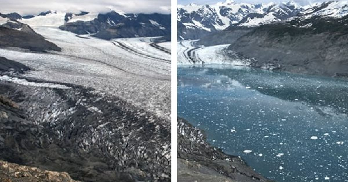 climate change and glacial melting Glaciers and climate change glacial ice can range in age from several hundred to several hundreds of thousands years, making it valuable for climate research to see a long-term climate record, scientists can drill and extract ice cores from glaciers and ice sheets.
