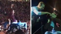Questo fan dei Coldplay ha realizzato il suo sogno di