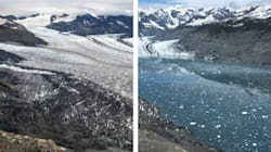 Alaskan Glaciers Melt Away In Dramatic Before-And-After