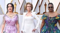 Le star osano sul red carpet con fiori e scollature vertiginose. E l'eleganza di Jane Fonda