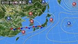 【5月7日の天気】本州、雷を伴って非常に激しく降り大雨となるおそれ