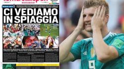 I titoli della stampa italiana sulla sconfitta della Germania sono la risposta agli sberleffi dei