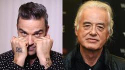 Robbie Williams non sopporta il vicino di casa Jimmy Page e spara la musica a tutto