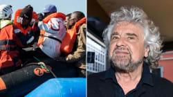 Beppe Grillo sta con il Governo sui migranti: