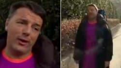 Tuta viola e racchetta: Renzi gioca a tennis dopo la sconfitta alle