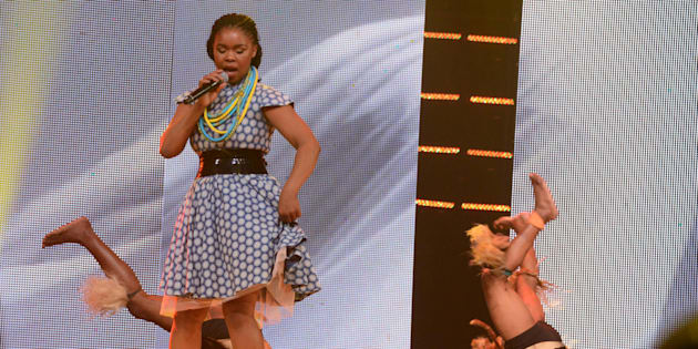 Zahara at the 22nd annual South African Music Awards (SAMAs) at the Durban International Convention Centre in June this year.