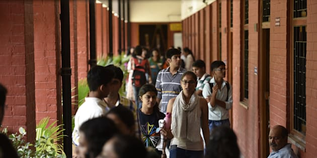 File photo of students at the Delhi University College in the North Campus.