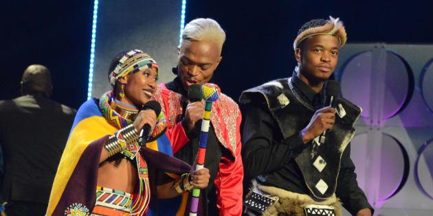 Somizi Mhlongo, Mpho 'Popps' Modikoane and Dineo Ranaka host the 24th annual South African Music Awards (SAMA 24) ceremony at Sun City.