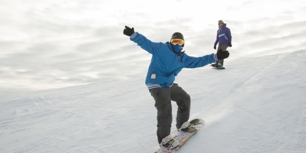 my first snowboarding trip