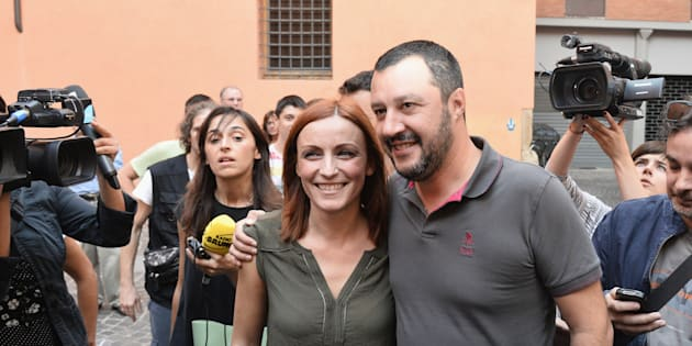 BOLOGNA, ITALY - SEPTEMBER 17:  Matteo Salvini (R) leader of the Lega Nord italian political party attends a demonstration with Lucia Borgonzoni (L) candidate for mayor of Bologna in the next municipal elections in 2016 on September 17, 2015 in Bologna, Italy.  (Photo by Mario Carlini - Iguana Press/Getty Images)