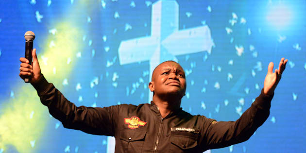 Pastor Lungi Ndala performs during the Crown Gospel Blesstival at Carnival City on June 24, 2017, in Johannesburg, South Africa. The Crown Gospel Blesstival is an event for music festivities, a celebration of the SABC Crown Gospel music awards.