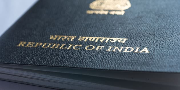India, passport, isolated, white, background,