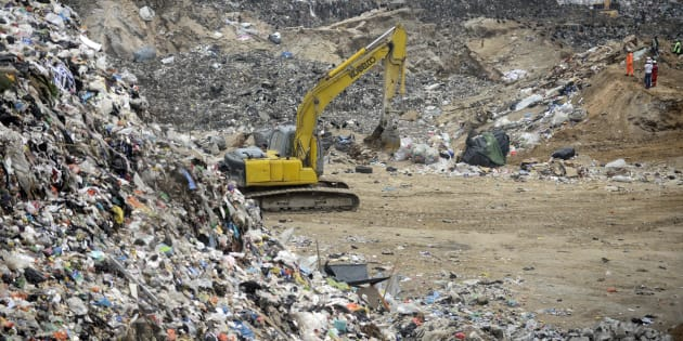 A landslide at a garbage dump in Guatemala City.