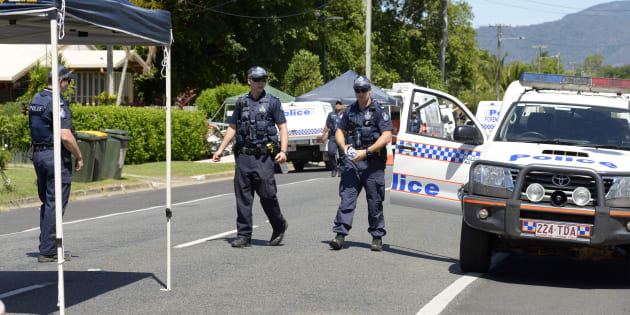 A Queensland Police press conference has been interrupted by the discovery of a deceased person.