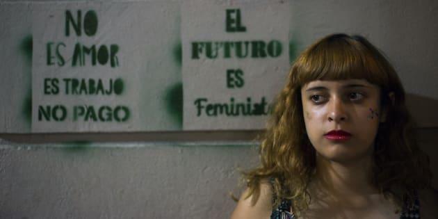 Imagen de la pasada Marcha de las Mujeres en Buenos Aires, 8 de marzo de 2018.
