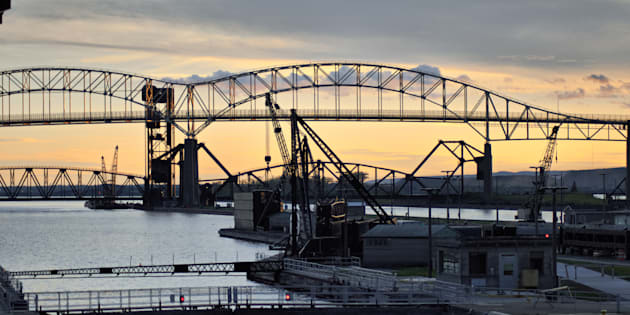 The Soo Locks in Sault Ste. Marie, Ont.