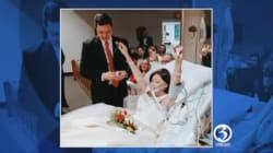 Une femme cancéreuse se marie quelques heures avant son
