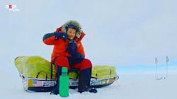 Attraversa Antartide da solo, a piedi e senza
