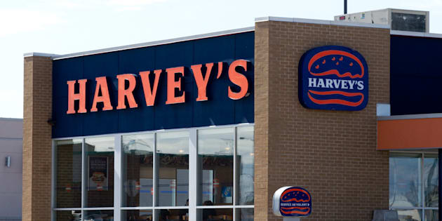 A Harvey's fast-food restaurant is pictured in Quebec. Parent company Recipe Unlimited hopes to offer paper straws in all of its restaurants by the end of March 2019.