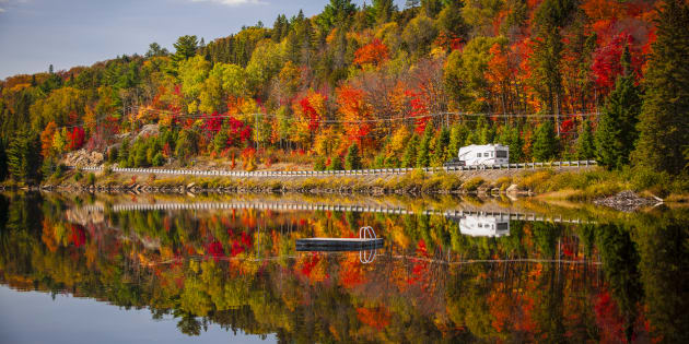 Ontario (pictured) and Quebec have already experienced previews of fall weather in recent weeks thanks to some unseasonable dips in temperature.