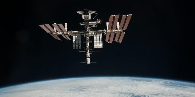 Si le programme Soyouz est gelé, il est possible que la Station spatiale internationale soit abandonnée, car la navette spatiale américaine (ici sur la photo) n'emmène plus d'astronautes sur l'ISS depuis 2011.