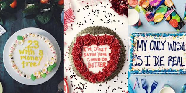 Drake lyrics piped onto cakes, then Instagrammed. What a time to be alive.