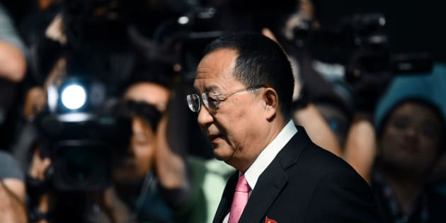 North Korean Foreign Minister Ri Yong-ho leaves his hotel in New York on Sept. 25, 2017.