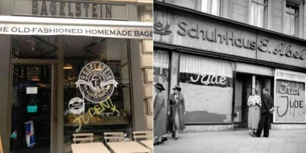 Bagelstein dépose plainte après une inscription antisémite sur sa vitrine à Paris