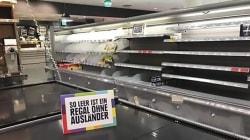 Questo supermercato ha tolto dagli scaffali tutti i prodotti stranieri per un'ottima
