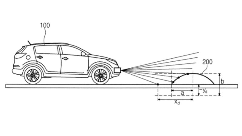 Hyundai patenting speed bump detection