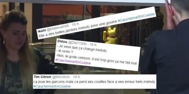 """Des tweets homophobes ont été postés en masse lors de """"Cauchemar en cuisine""""."""