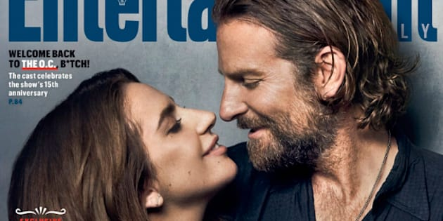 Lady Gaga and Bradley Cooper très complice en une d'Entertainment Weekly.