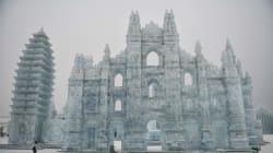Harbin, le sculture della città di ghiaccio si mostrano al