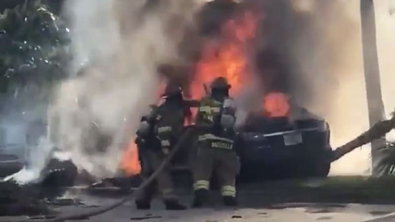 Fiery Tesla crash with trapped driver puts focus on vehicle