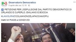 Pagina fan del Pd invoca la cacciata della minoranza dal partito, che insorge: