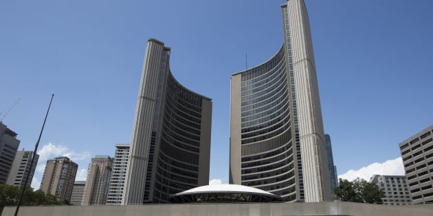 Toronto City Hall is pictured on July 29, 2018.