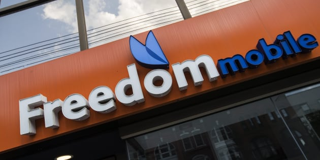 A Freedom Mobile store in Toronto, Sun. July 29, 2018.