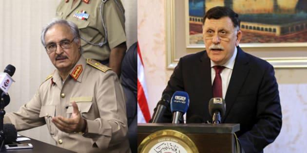 Qui sont Fayez al-Sarraj et le maréchal Haftar, ennemis libyens, que Macron va tenter de réconcilier?