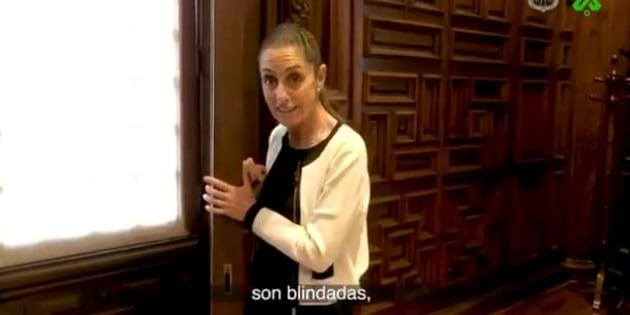 Sheinbaum reveló que en 2013 se colocaron un par de ventanas blindadas en la oficina del entonces jefe de Gobierno, Miguel Ángel Mancera.