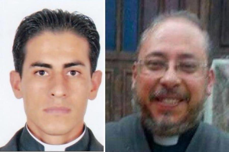 Rubén Alcántara Díaz (der.), de la diócesis de Izcalli, y  Juan Miguel Contreras García (izq.), de la Arquidiócesis de Guadalajara.